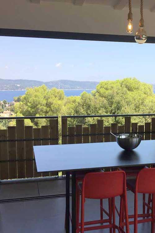 location de vacances villa vue mer cavalaire sur mer dans le Golfe de Saint-Tropez